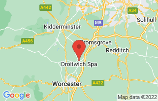 Listers Land Rover Droitwich's location