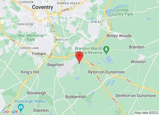 Listers Toyota Coventry's location