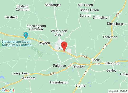 Thurlow Nunn (Diss)'s location