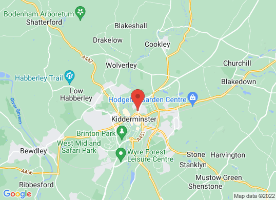 CMS (Kidderminster)'s location