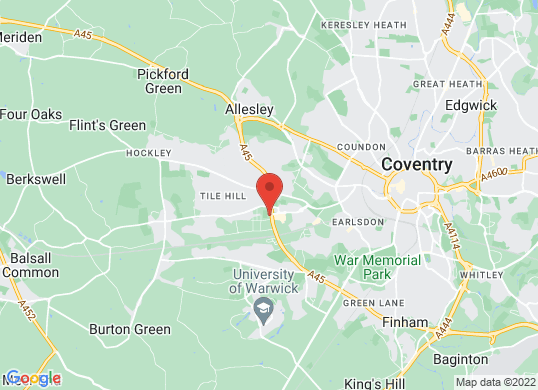 Coventry Audi's location