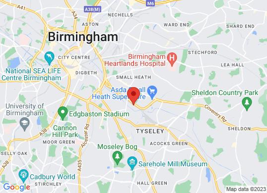 Robins & Day Birmingham Used Car Centre's location