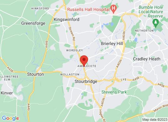 Stourbridge Motor House's location