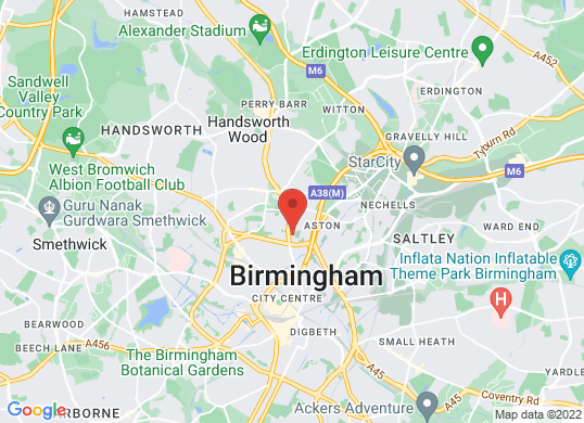 Volkswagen Van Centre Birmingham's location