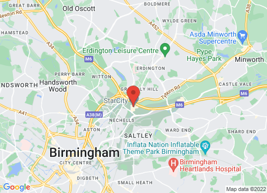 Bristol Street SEAT Birmingham's location