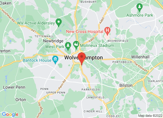 West Way Wolverhampton's location