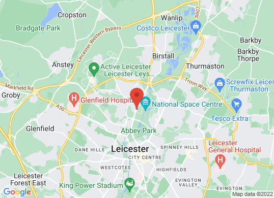 Nissan Leicester's location
