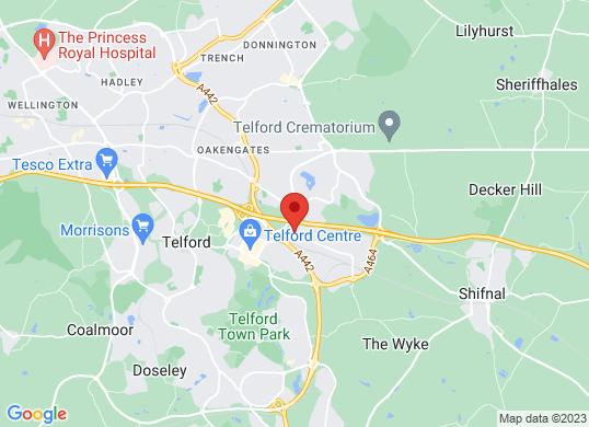 W R Davies Telford Toyota's location