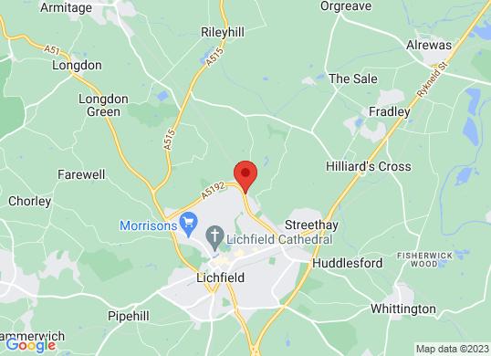 Bristol Street Lichfield Vauxhall's location