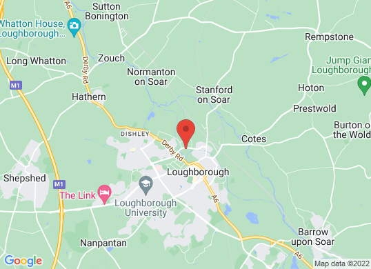 Listers Volkswagen Loughborough's location