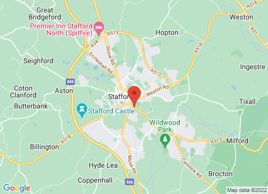 W R Davies Toyota Stafford 's location