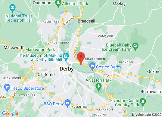 Robins & Day Derby's location