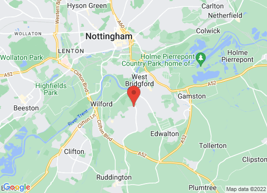 Vertu Volkswagen Nottingham South's location
