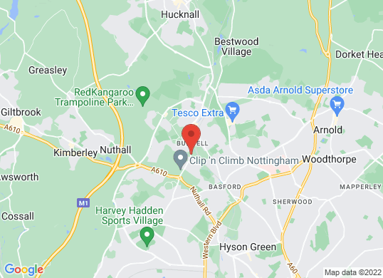 Pentagon Nottingham (Bulwell)'s location