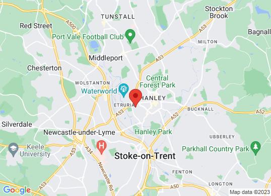 Arnold Clark Vauxhall (Stoke)'s location