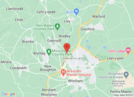 Wrexham Volkswagen's location