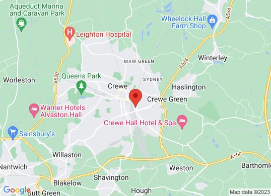 Bristol Street Crewe Vauxhall's location