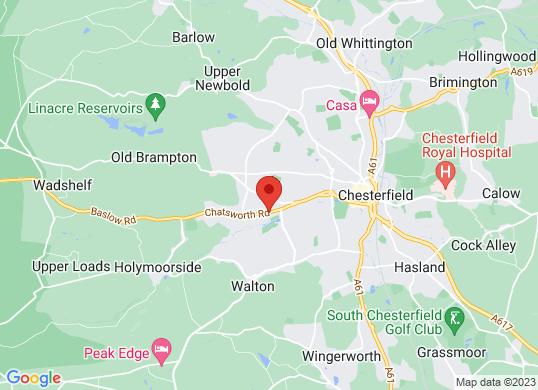 Bristol Street Chesterfield Vauxhall's location