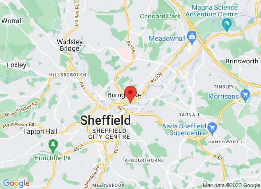 Pentagon Sheffield - Savile Street's location