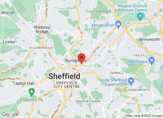 Bristol Street Volvo Sheffield's location