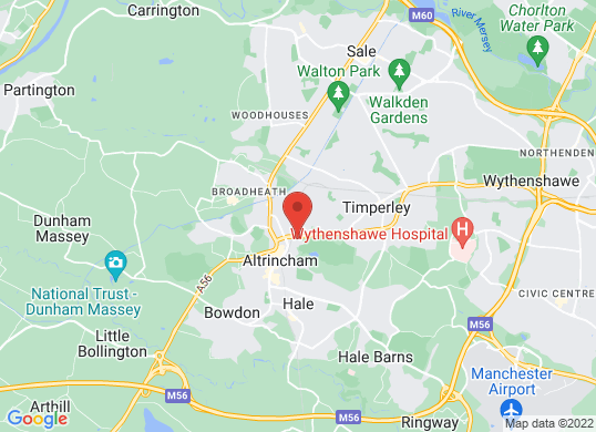 Arnold Clark Kia (Altrincham)'s location