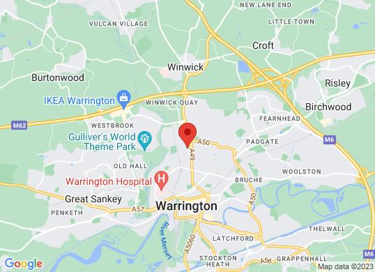 Van Monster Warrington's location