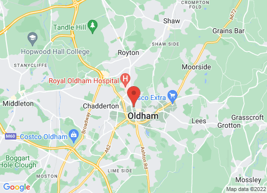 West Way Oldham's location