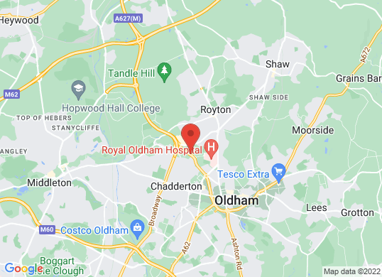 Pentagon Oldham's location