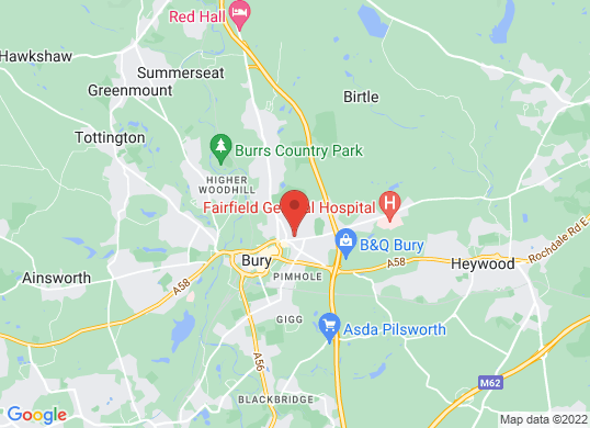 Farnell Land Rover Bury's location