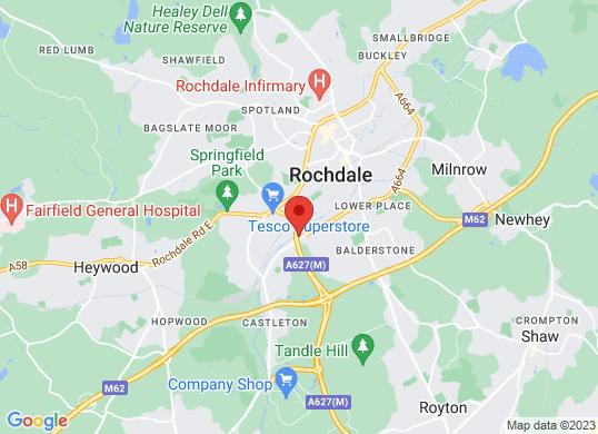 Swansway Honda Rochdale's location