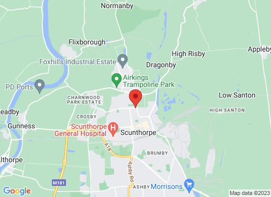 Marshall BMW Scunthorpe's location