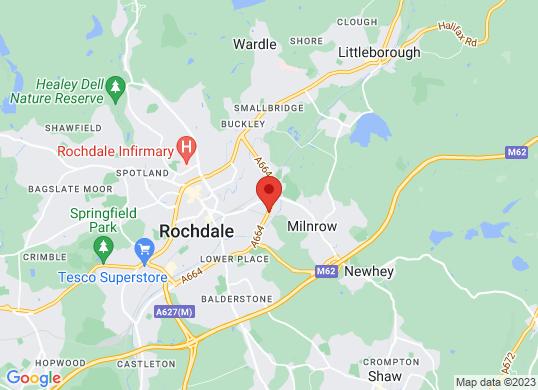West Way Rochdale's location