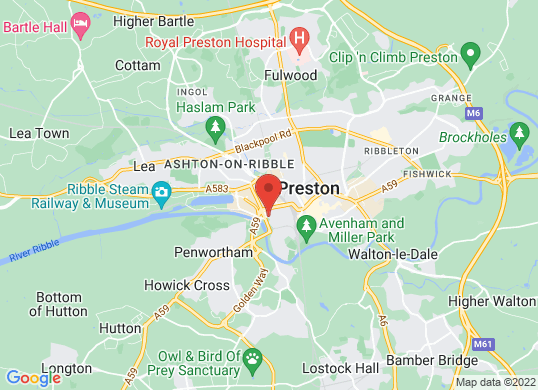 Arnold Clark Motorstore (Preston)'s location