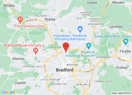Farnell Jaguar Bradford's location