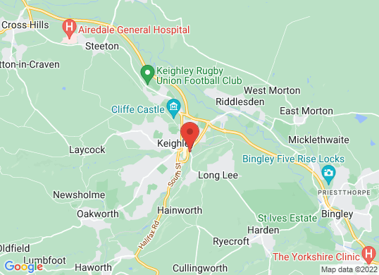 Pentagon Keighley's location