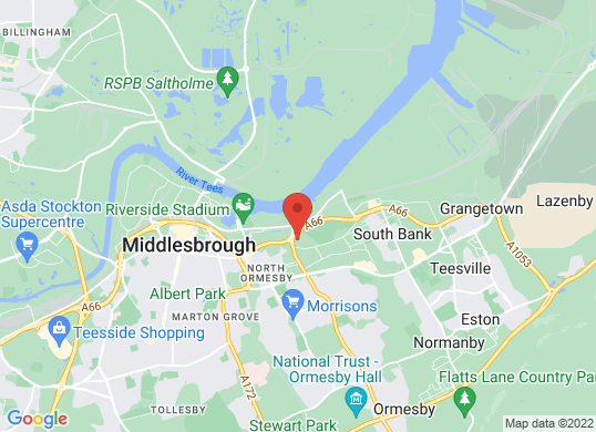 Mazda Middlesbrough's location