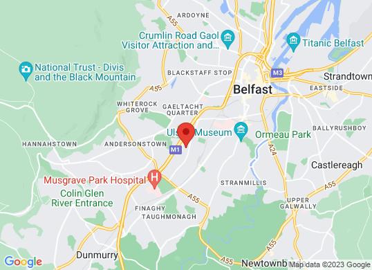 Charles Hurst Vauxhall - Belfast (Vauxhall)'s location