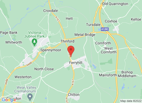 Carshop Ferryhill's location