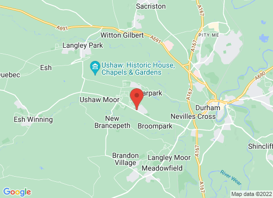 Ushaw Moor Car Sales's location