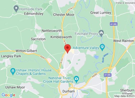 Bristol Street Durham Vauxhall's location