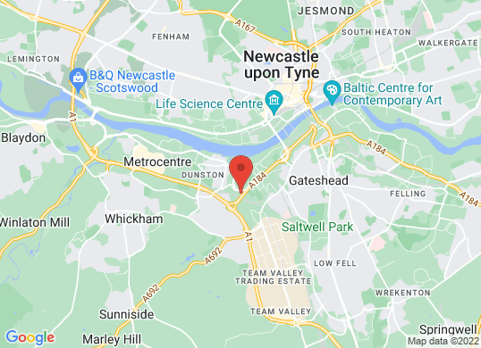 Ford Gateshead's location