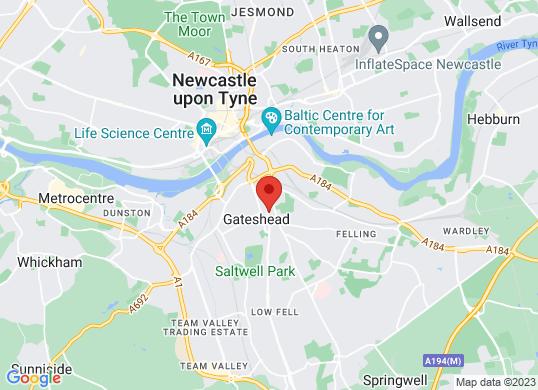 Sherwoods Gateshead Suzuki's location