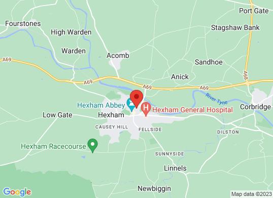 Bristol Street Hexham Vauxhall's location