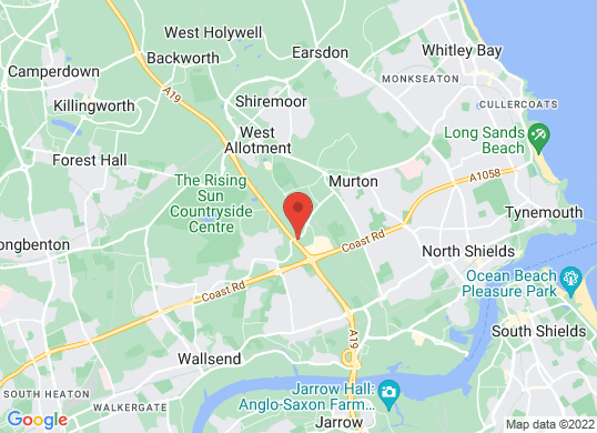 Tyneside Audi's location