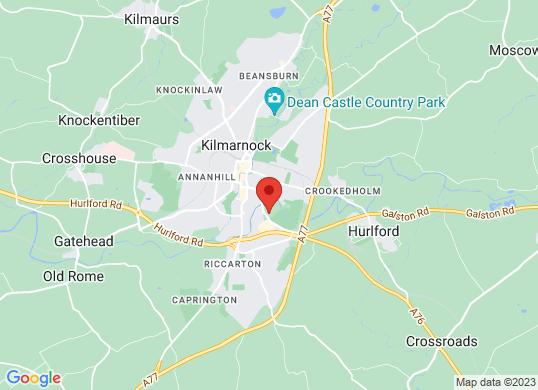 Arnold Clark Ford (Kilmarnock)'s location