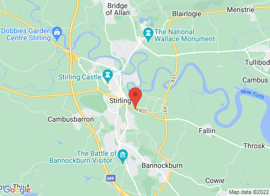 Arnold Clark Volvo (Stirling)'s location