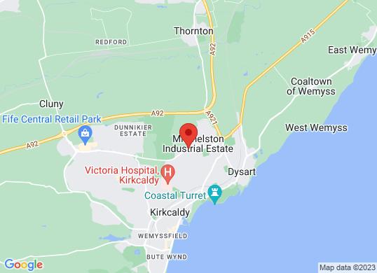 Arnold Clark Fiat Kircaldy's location
