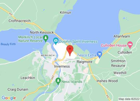 Arnold Clark Peugeot (Inverness)'s location