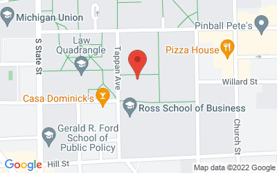 Map of 611 Tappan, Ann Arbor, MI 48109-1220