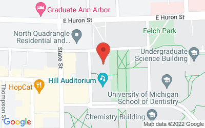 Map of 812 East Washington, Ann Arbor, MI 48109-1275